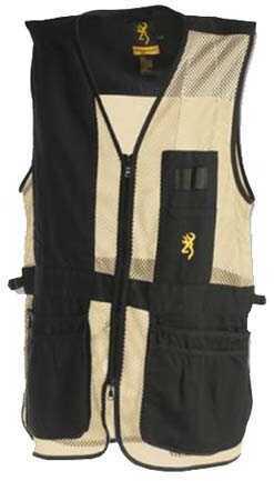 Browning Deluxe Vest, Left Hand, Black/Tan Medium 3050279902