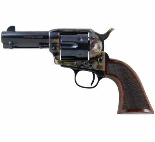 "Taylor's & Company 1873 Revolver Smoke Wagon 357 Magnum 3.5"" Barrel 6 Round Walnut Grip 4113"