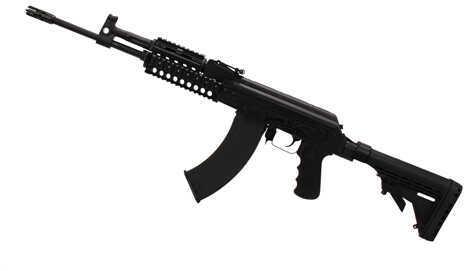 "M+M Rifle M+M AK47 Style 7.62x39 16.25"" Barrel 30 Round Low-Rec Stock Pistol Grip Black Semi Automatic Rifle M10-762K"