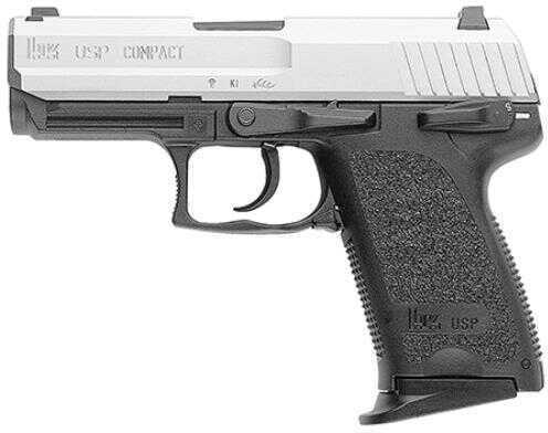 """Heckler & Koch Pistol HK USP V1-Double Action Compact 9mm Luger 3.58"""" Barrel Polymer Frame Stainless Steel Finish 10 Rounds"""