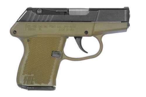 "Kel-Tec P-3AT 380 ACP 2.7"" Barrel OD Green Frame Black Slide 7 Round Semi Automatic Pistol"