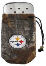 Zippo NFL/Realtree Logo Bag, w/Chrome Hand Warmer Pittsburgh Steelers 40304