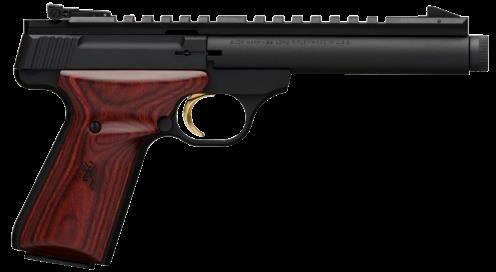 """Pistol Browning 051 527490 Buck Mark Field Target Suppressor Ready 5.5"""" Barrel 10+1 Cocobolo Grips Blued Fin"""