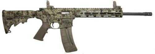 "Smith and Wesson Rifle MP15- 22 Long Rifle 25+1 Rounds  Kryptek Highlander Camo 16"" Barrel Semi-Auto Rifle 10211"