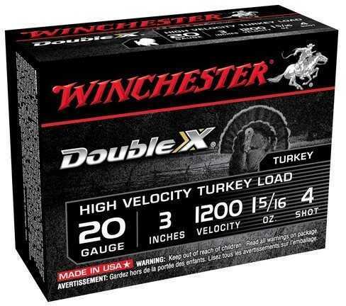 "Winchester Supreme Magnum Turkey LD 20Ga 3"" #4 10 Rds Ammunition STH2034"