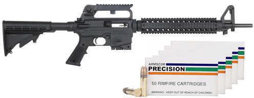 "Mossberg 715T 22 Long Rifle 18"" Barrel  10 Round   Carry Handle  Adjustable Stock  250 Round Ammo Bundle Semi Automatic Rifle  37202"