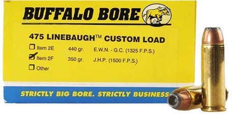 Buffalo Bore Ammunition 475 Linebaugh TM 350 Grains JHP (Per 20) 2F/50