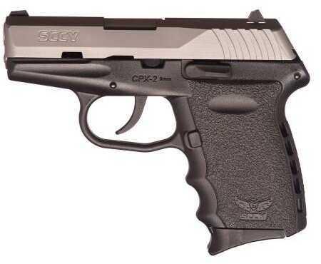 "Pistol SCCY Industries CPX-2 9mm Luger 3.1"" 10+1 Black Zytel Grip Black/Satin Stainless Steel CPX2TT"