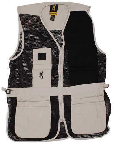 Browning Trapper Creek Left Hand Vest, Sand/Black Medium 3050362802