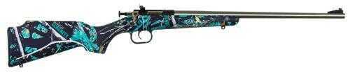 """Crickett KSA2173 Crickett Bolt 22 Long Rifle 16.125"""" Barrel 1 Synthetic Muddy Girl Serenity Stock Satin"""