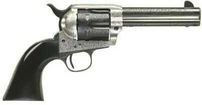 "Taylor's & Company Revolver Uberti 45 Colt 5.5"" Barrel Cattleman Photo Engraved Coin Finish Hardening Blued Finish"