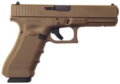 "Glock Semi-Auto Pistol G22 G4 Full Flat Dark Earth 40S&W 15+1 Rounds Fixed Sights 3-15 Round MAGS Accessory Rail Barrel 4.5"""