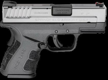 "Pistol Springfield Armory XD Mod2 45 ACP 3.3"" Barrel Stainless Steel Finish Black Frame"