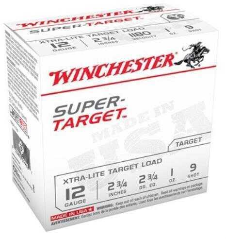 Winchester Super Target 12 Gauge #9 2 3/4Dr 1Oz 1180Fps 25 Rounds Ammunition TRGTL129