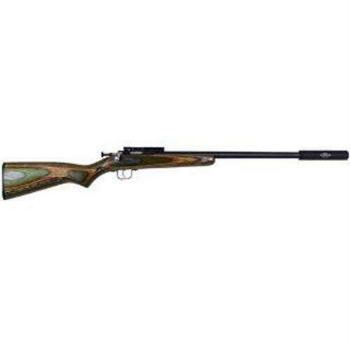 "Crickett Rifle 22 Long Rifle 16"" Bull Barrel 1/2x28 Threaded Barrel Blued Camo"