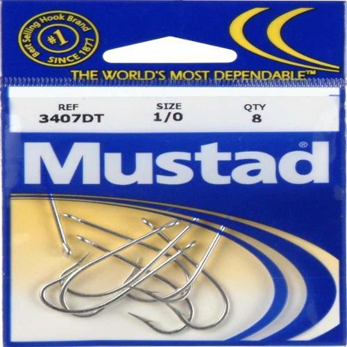 Mustad Hooks Mustad Poly Bag Hooks Tin O'Shaughnessy 8/ctn 3407P-1/0