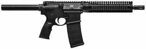 "Daniel Defense M4 300 AAC Blackout Semi-Automatic Pistol 10.3"" Barrel Aluminum Frame And DD Soft Touch Pistol Grip Black 30 Round Semi-Auto"