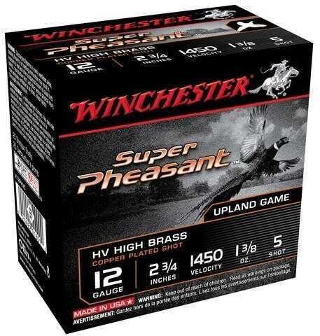 "Winchester Super Pheasant 2 3/4"" 12 Gauge 1 3/8Oz #5 HV 25 Rounds Ammunition X12PHV5"