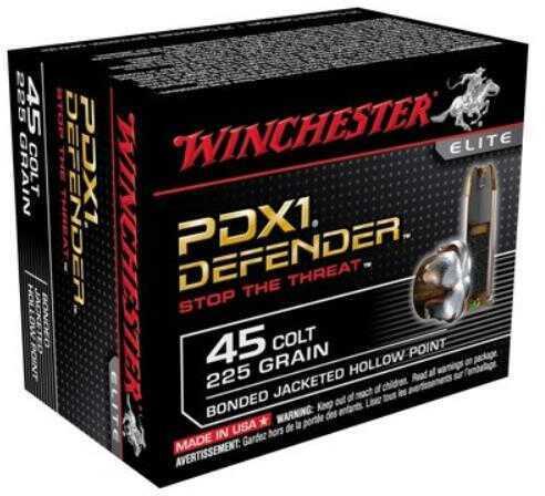 Winchester 45 Colt 225 Grains Supreme Elite Bonded PDX1 20 Rounds Ammunition S45CPDB