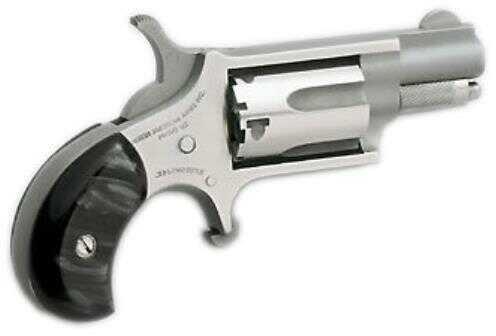 "North American Arms Revolver MINI 22 Long Rifle Revovler 1-1/8"" Barrel Stainless Steel Black Pearlite Grip 22 LR Pistol NAA-22LR-GP-B"