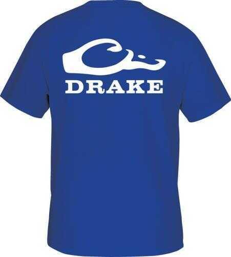 Drake Waterfowl Drake Logo SS T Shirt Blue 2XL