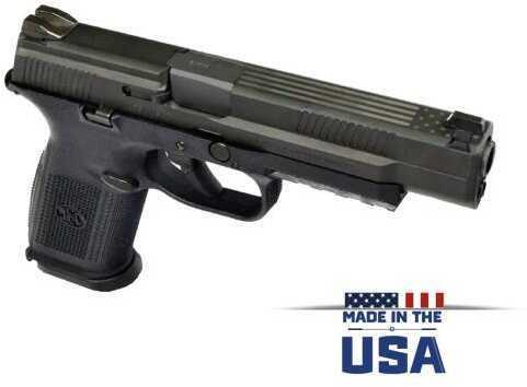 "FNH USA FN Semi-Auto Pistol FNS-9L 9MM Black 17+1 FS US FLAG STRIKER FIRED/NO MANUAL SAFETY 9mm Barrel 5"""