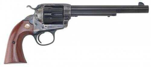 """Cimarron Bisley Model  357 Magnum  Revolver 7.5"""" Barrel  Case Hardened Receiver Standard Blued Finish  2-Piece Grip  Pistol"""
