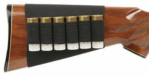 Bulldog Cases Buttstock Shotgun Shell Holder Black (Holds 6 Shells) Md: WBSS