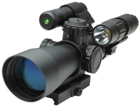 NcStar Total Targeting System 3-9X42 Mil-Dot Scope KSTM3942G/FLG