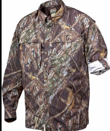 Drake Waterfowl Long Sleeve Wingshooter Shirt Mossy Oak Shadow Branch Small