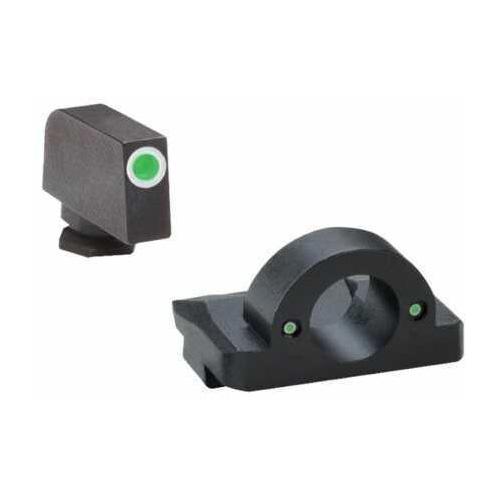Ameriglo LLC. Ameriglo Green Front/Rear Ghost Ring Night Sights For Glock 9MM/40 Caliber Md: GL125