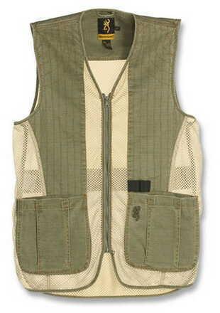 Browning Rhett Mesh Vest Olive/Tan Medium 3050297402