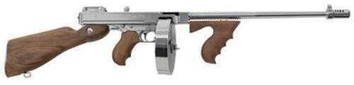 """Auto-Ordnance Thompson 1927A-1 Deluxe Semi Auto Carbine 45 ACP 16.5"""" Finned Barrel 50 Round Drum 20 Round Mag"""