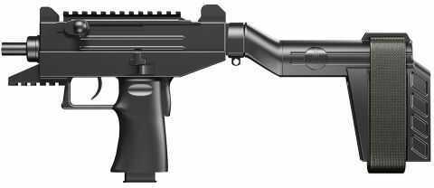 "Israel Weapon Industries IWI UZI Pro Semi-Auto 9mm Luger Parabellum Pistol, 4.5"" Cold Hammer Forged CrMoV Barrel, Blowback O"