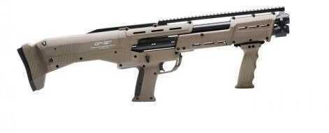 "Standard Manufacturing DP-12 12 Gauge Shotgun 18"" Barrels 3"" Chambers Double Barrel Pump Flat Dark Earth Stock"