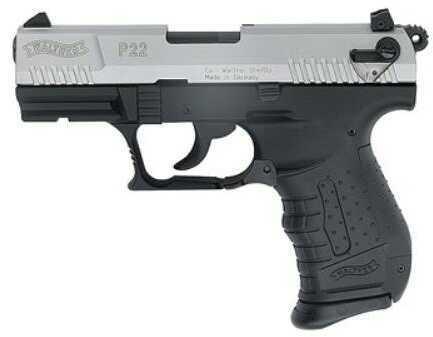 "Walther P22 Series Pistol  22 Long Rifle  Nickel  3.4""Barrel  DA  10 Round    Semi Automatic Pistol  QAP22004"