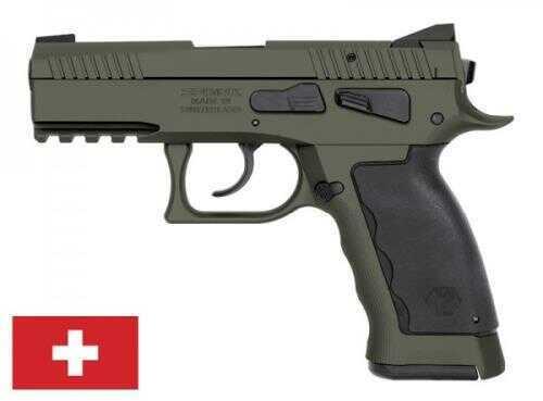 "Pistol KRISS Sphinx Speed Compact DA/SA Action 9mm Pitsol, 3.7"" Barrel 17+1 Magazine Capacity, Iron Blade Fro"
