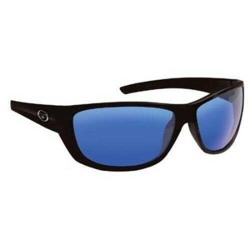 Flying Fisherman Bahia Matte Black Smoke Blu Mirror Sunglasses