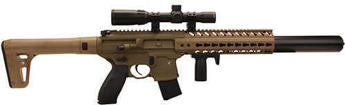 Sig Sauer MCX Air Rifle.177 Cal CO2 30 Round FDE Air-Scope-14X24