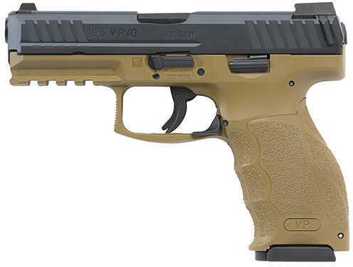 """Heckler & Koch VP40 Semi Auto Pistol 40S&W 4.09"""" Barrel 10 Round Flat Dark Earth 2 Mags"""