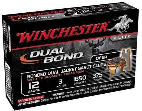 "Winchester Supreme Elite Dual Bond Sabot Slug 12 Gauge 3"" Ammunition SSDB123"