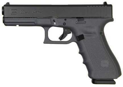 "Glock Semi-Auto Pistol G22 G4 Gray 40S&W 15+1 Rounds 4.49"" Barrel Fixed Sights 3-15 Round Mags Accessory Rail Barrel 4.49"""