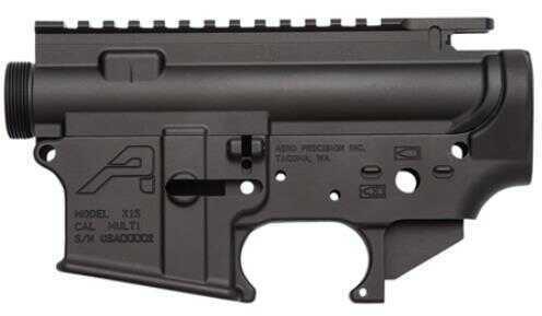 Lower Reveiver Aero Precision AR-15 Stripped Receiver Set Multi-Caliber AR Platform Black Hardcoat Anodized