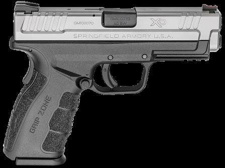 "Springfield Armory XD Mod 2 40 S&W 12 Round 4"" Barrel Stainless Steel Finish Black Frame Semi-Automatic Pistol"