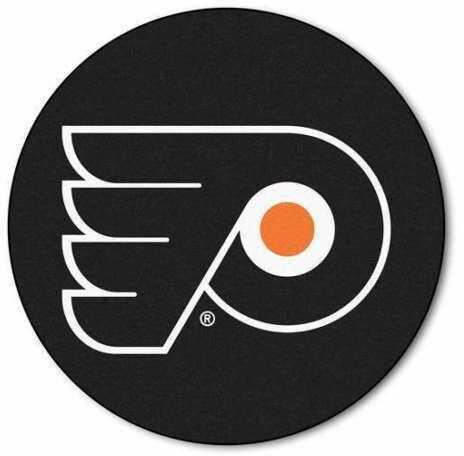 Fanmats Puck Mat Nhl - Philadelphia Flyers