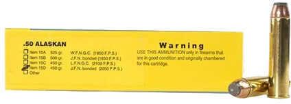 Buffalo Bore Ammunition 50 Alaskan 450 Gr JFN Bonded (Per 20) 15D/20