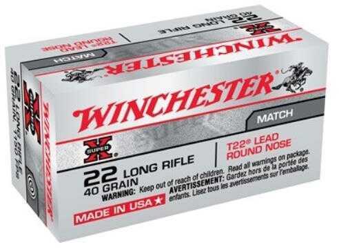 Winchester Ammunition Super-X 22LR 40 Grain Lead Round Nose Target 50 Round Box XT22LR