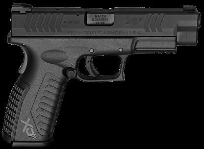 "Springfield Armory XD(m) 40 S&W 16 Round 4.5"" Barrel Black Finish Black Frame Semi-Automatic Pistol"