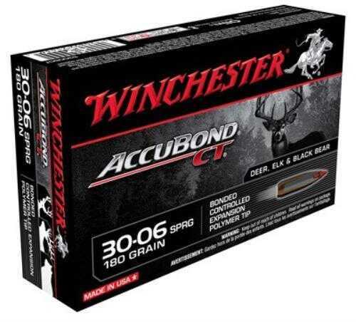Winchester Ammunition Supreme 30-06 180 Grain Nosler Accubond 20 Round Box S3006CT