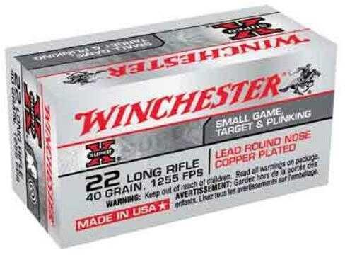 Winchester Ammunition High Velocity 22LR 40 Grain Lead Round Nose 50 Round Box X22LR